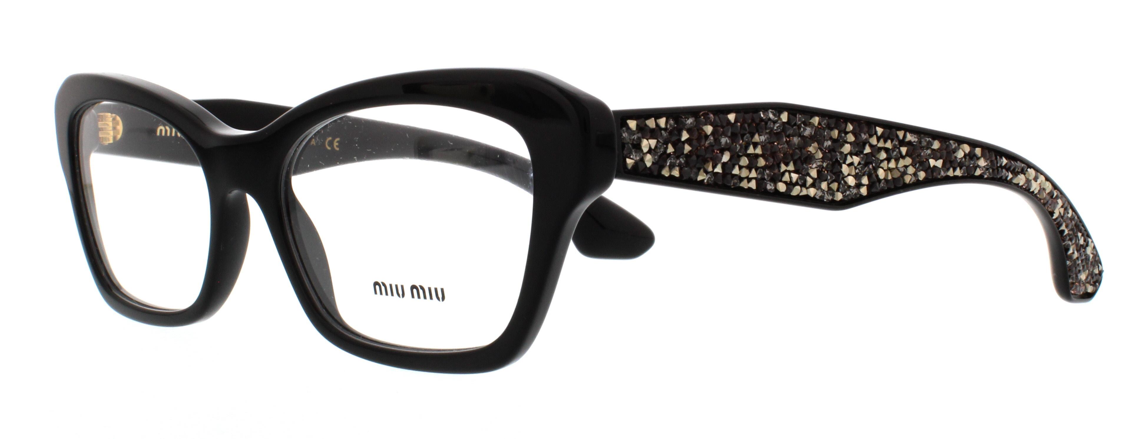 1ab1o1 black - Miu Miu Glasses Frames