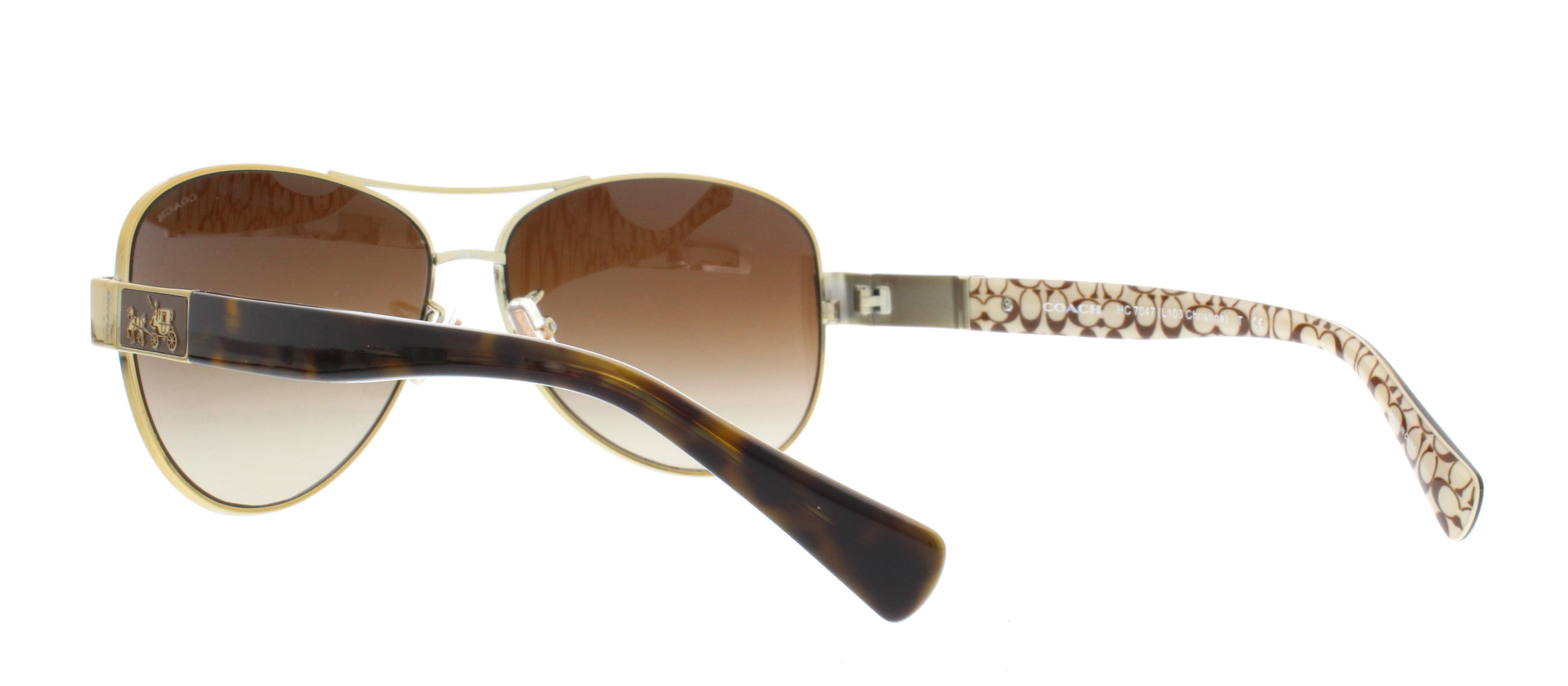 ebc9fd2edd11 coupon for coach l103 christina hc7047 sunglasses 920213 59 gold dark hc7047  21ee3 00861
