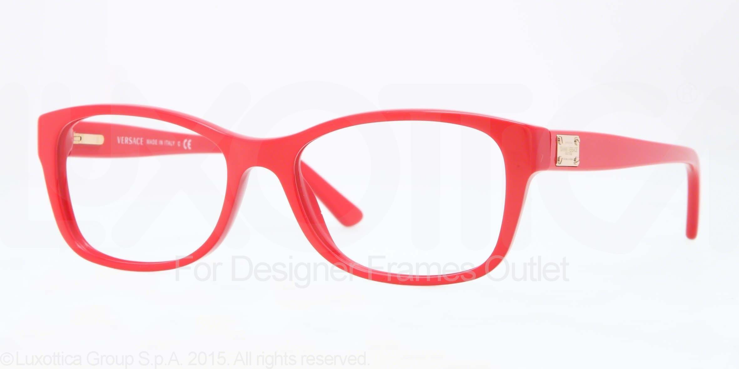 4224d15466b Versace Red Eyeglass Frames - Bitterroot Public Library