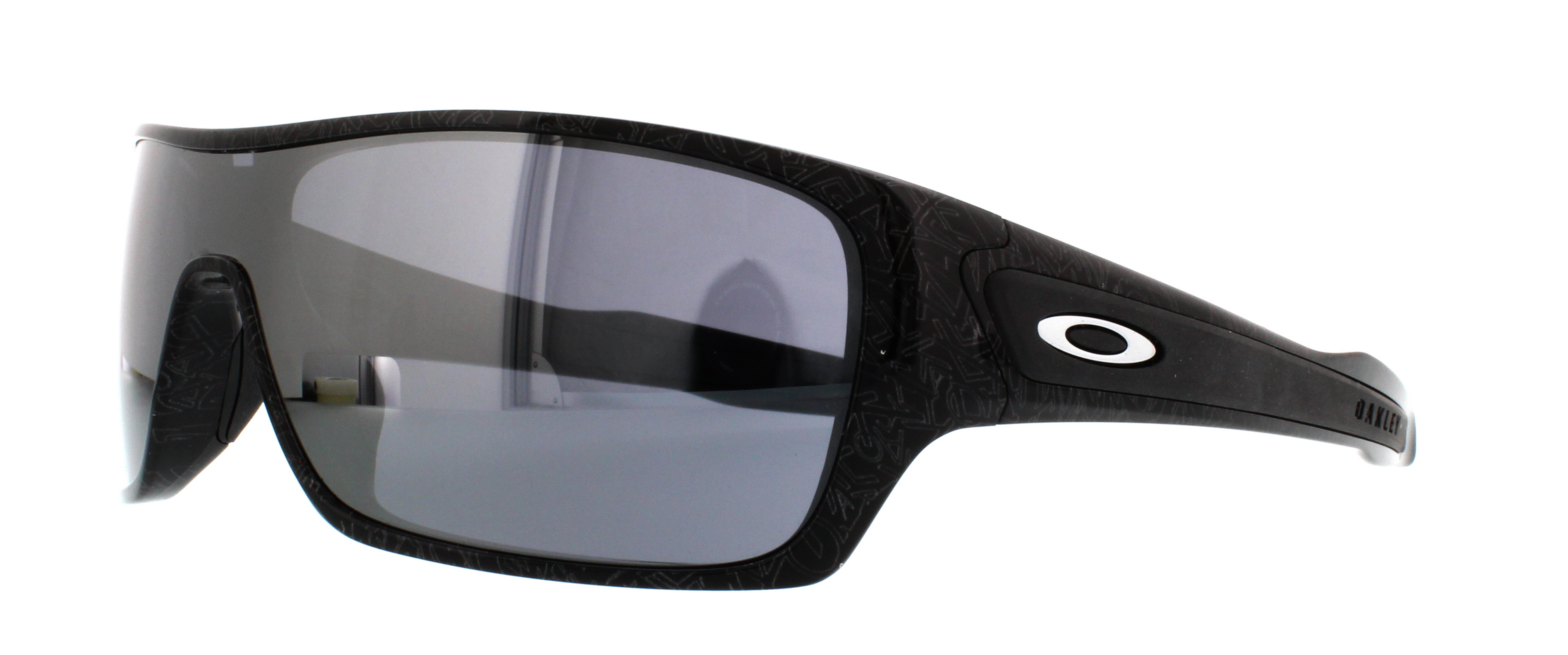 (OO9307-02) Black/Silver Ghost Text