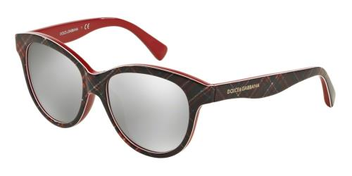 Sunglasses Dolce /& Gabbana DG 4176 31988G LEO GLITTER BLACK