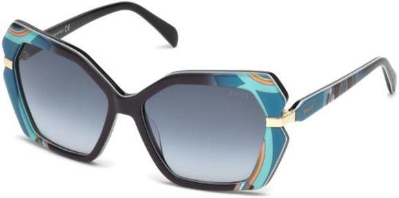 Sunglasses Emilio Pucci EP 0063 50F dark brown//other gradient brown