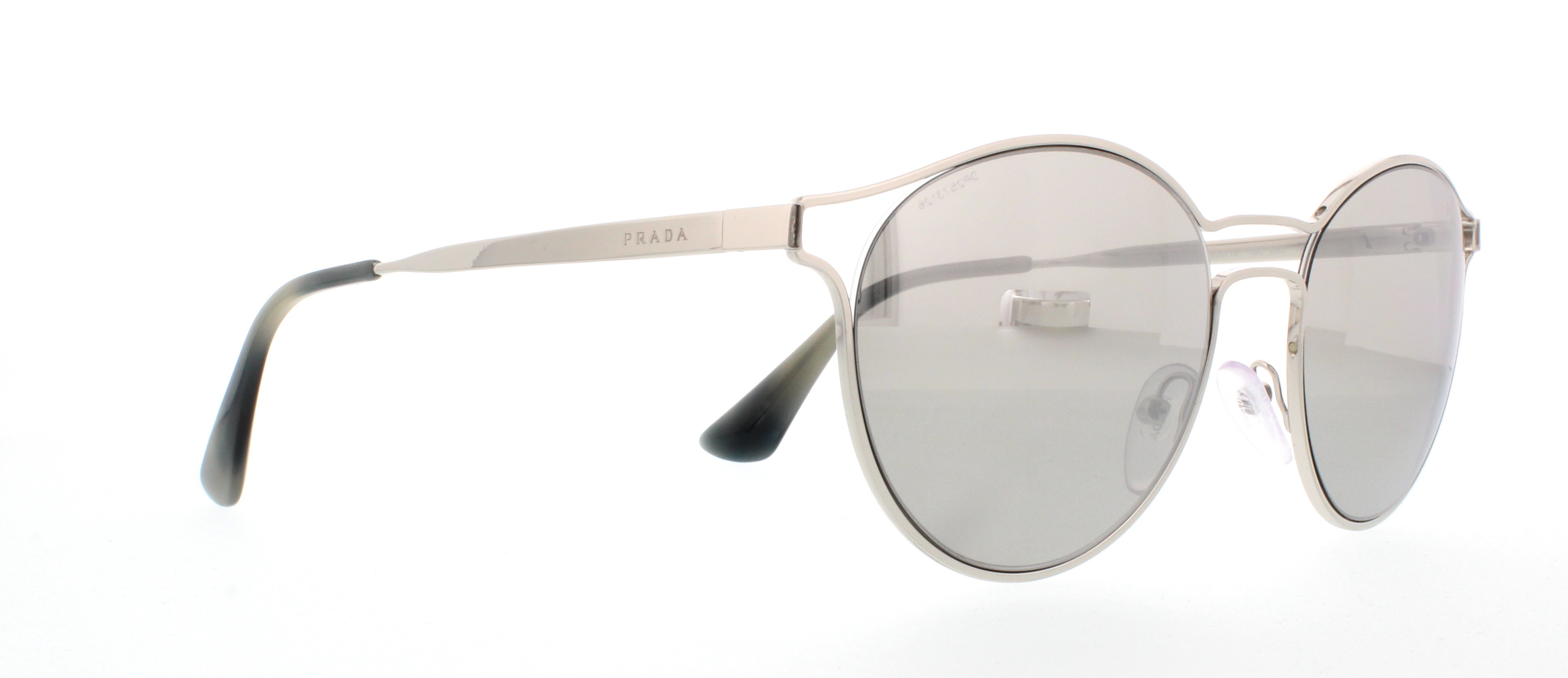 Prada Cinema Sonnenbrille Silber 1BC2B0 53mm cq8O5O3gs