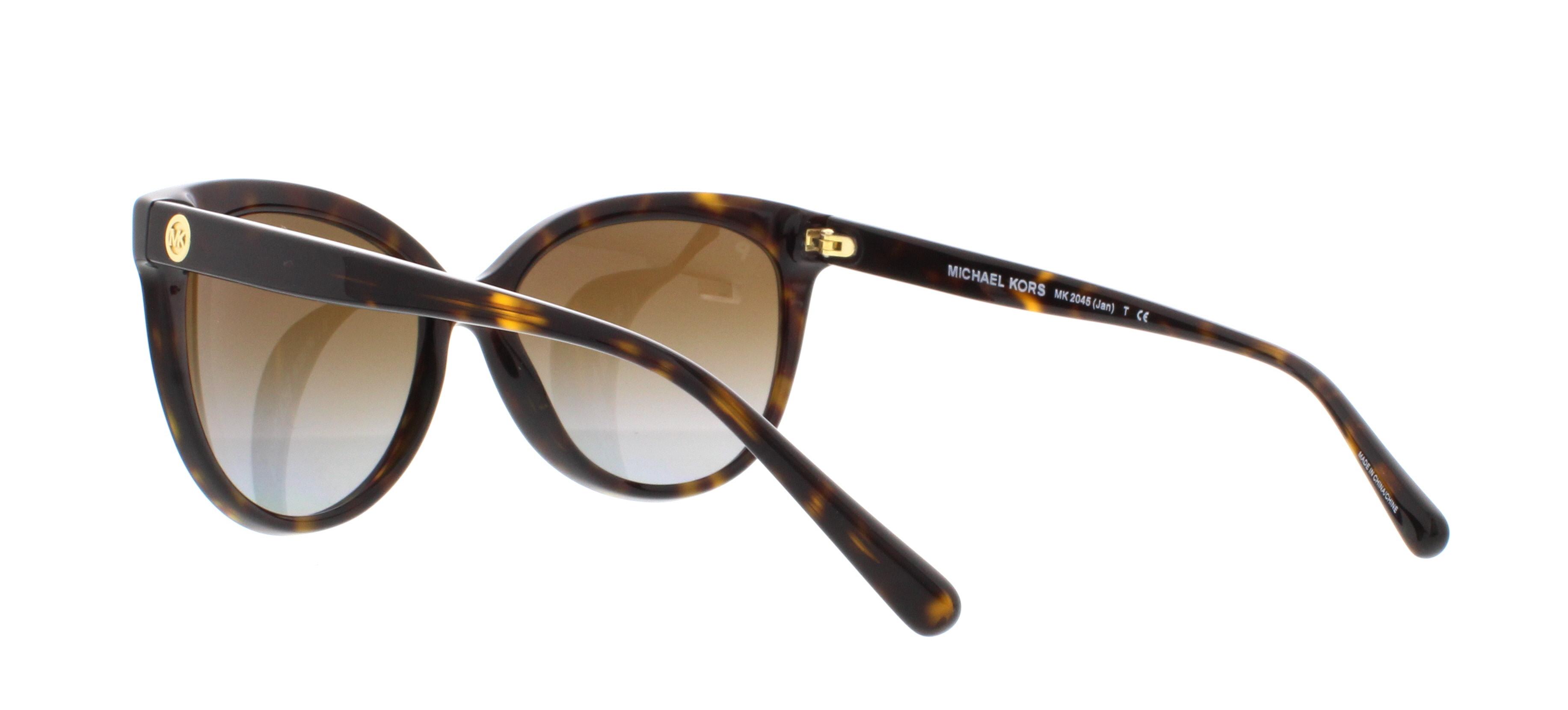 Womens Jan 3006T5 Sunglasses, Dark Tortoise Acetate/Browngradientpolarized, 55 Michael Kors